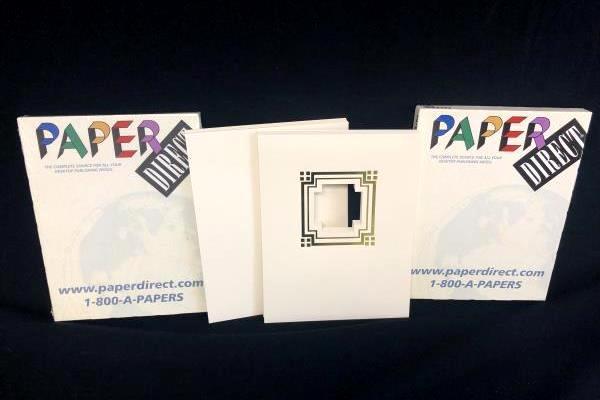 Lot 2 Paper Direct Presentation Cover Paper Cornerstone Cream Foil 50 Ct New Box