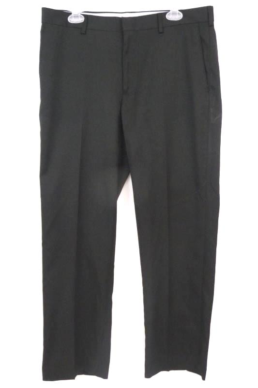 PGA TOUR Men's Flat Front Black Dress Pants Slacks Size 34X29 Polyester Blend