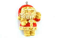 Vintage 1976 Hallmark Ornament Santa Claus Seasons Greetings Tree Treat RARE