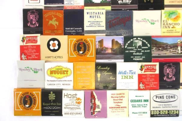 Vtg Lot of 46 Front Strike Matchbook Collection Hotel Hawaii Motel Casino