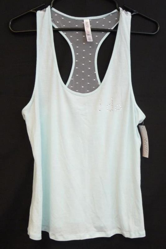 """NWT Gilligan & O'Malley Bridal Sleepwear Set """"I Do"""" Light Blue Tank &Shorts Sz L"""
