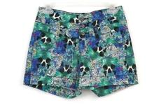 Lovesick Hot Topic Junior's Water Color Skull High-Waisted Shorts Size 3 Short