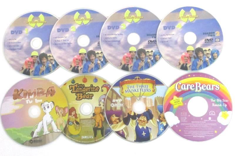 Lot 5 DVDs: Kimba + 3 Musketeers + Tangerine Bear + Care Bears + Dr.Wonder's WS