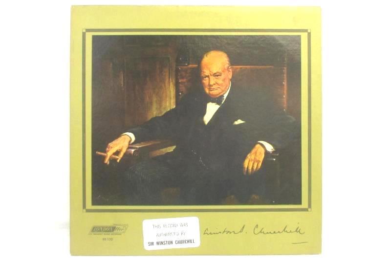 The Voice Of Winston Churchill 1964 Non-Music Record Vinyl