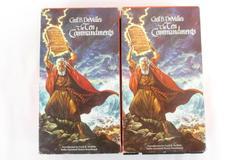Lot of 2 The Ten Commandments VHS Box Set Cecil B. DeMille's 1956 Paramount