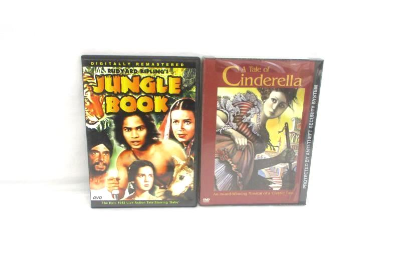 Lot Of 2 DVDs Rudyard Kipling's Jungle Book A Tale Of Cinderella Children Family