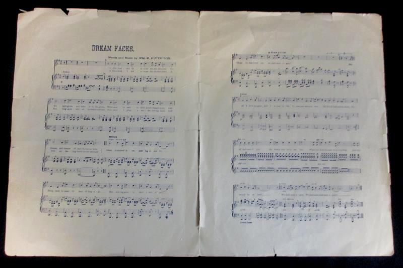 Piano Organ Sheet Music Bromo-Seltzer  Locke's Pharmacy Dream Faces