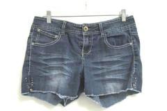 No Boundaries Women's Mid-Rise Boyfriend Shorts Dark Denim Wash Junior's Size 11