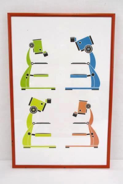 3 Nerdy Baby Scientific Method Microscope Abacus Framed Prints Wall Decor