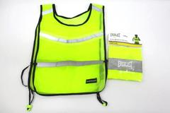 Lot of Two Yellow Hi-Vis Reflective Vests For Runners Everlast and Weider
