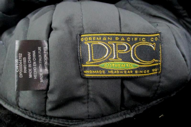 Dorfman Pacific Black And Tan Child's Polyester Bomber Cap Faux Fur Lining