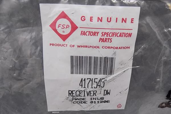 Whirlpool Part No. 4171545 Dishwasher Receiver Replacement Part