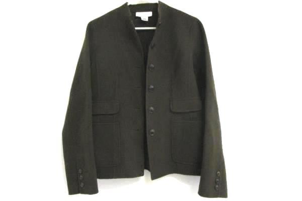 Calvin Klein Dark Brown 100% Wool Long Sleeve Button-Up Blazer Jacket Size 6