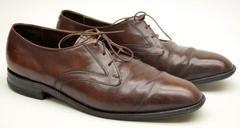 FREEMAN Free Flex Men's 11.5 Brown Leather Oxfords Shoes
