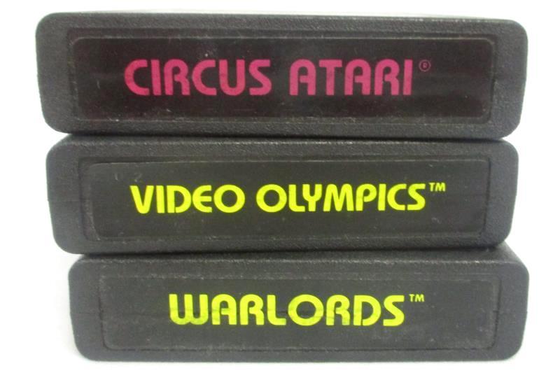 Lot of 3 Atari Cartridge Games- Circus, Video Olympics, Warlords