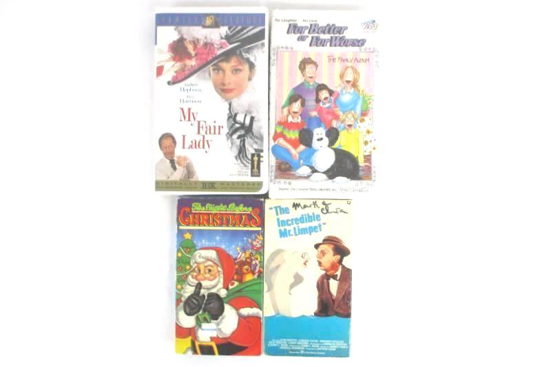 Lot 4 VHS Incredible Mr. Limpet, My Fair Lady, Night Before Christmas ++