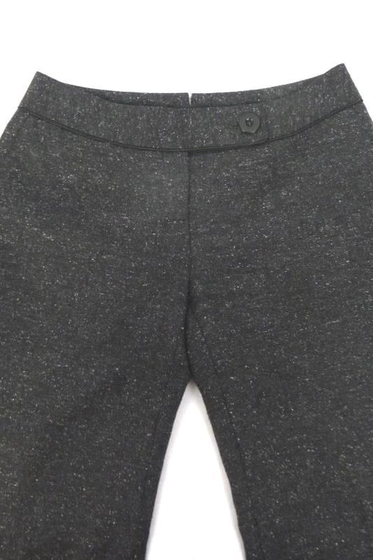 Semantiks Women's Petite Flat Front Gray Tweed Dress Pants Slacks Size 2P Wide