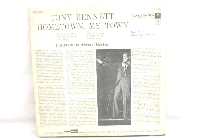 Tony Bennett Hometown, My Town Pop Vinyl Record