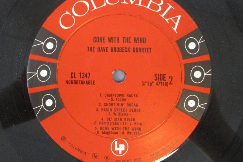 Gone With The Wind The Dave Brubeck Quartet Vinyl Record