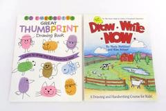 Lot of 2 Children's Drawing Learning Books Draw Write Now Thumbprint Drawing