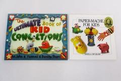 2 Children's Art Craft Books Papier-Mache Ultimate Book Kid Concoctions How To