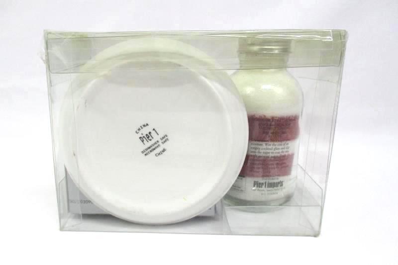 Pier 1 Red And White Crantini Decorative Sugar Jar Picks And Rimmer