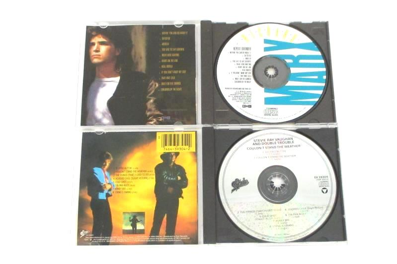 2 CDs Stevie Ray Vaughan Couldn't Stand the Weather Richard Marx Repeat Offender