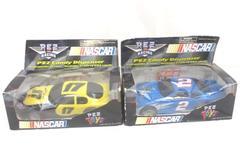 Lot Of 2 Nascar Pez Candy Dispenser Racing Cars