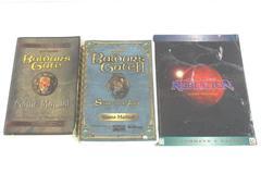 Lot Of 3 PC Game Manuals Baldur's Gate Star Wars Rebellion