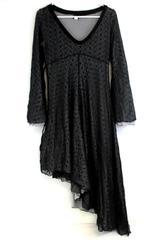 Women's Ipseity Size Small Black Renaissance Floral Lace Halloween Costume Dress