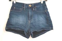 High Rise YMI Shorts Dark Wash Denim Women's Size 0 (XS)
