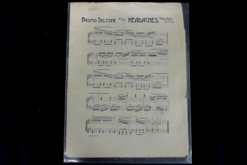 Antique 1910s Piano & Organ Sheet Music Carnival of Venice Bromo Seltzer