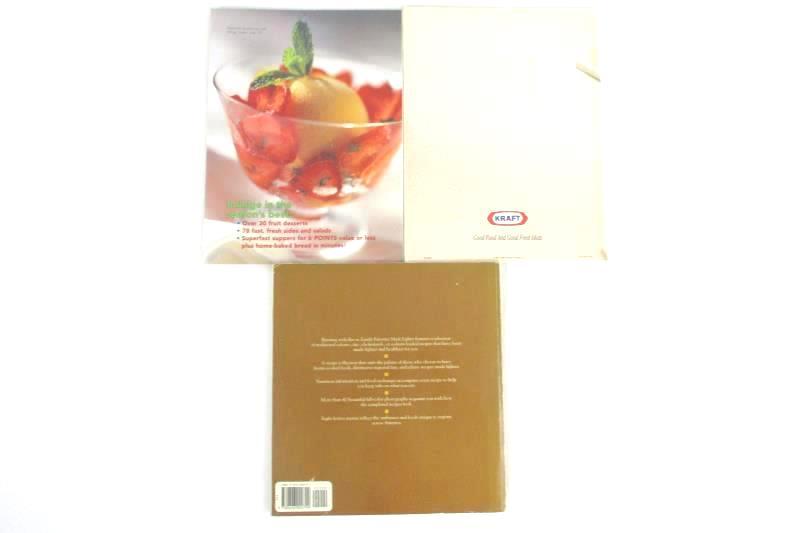 Lot of 3 Cookbooks: WeightWatchers, Family Favorites, Kraft Weekday Survival