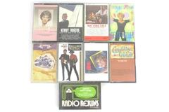 Lot Of 9 Cassette Tapes Country Bette Midler Nat King Cole Ann Murray