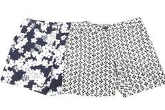 Lot of 2 Women's Ann Taylor Loft Sz 0 Original Shorts White Print Navy Floral