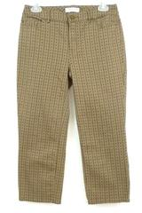 Coldwater Creek Women's Natural Fit Capri Cropped Pants 5 Pocket Brown/Dots Sz 4