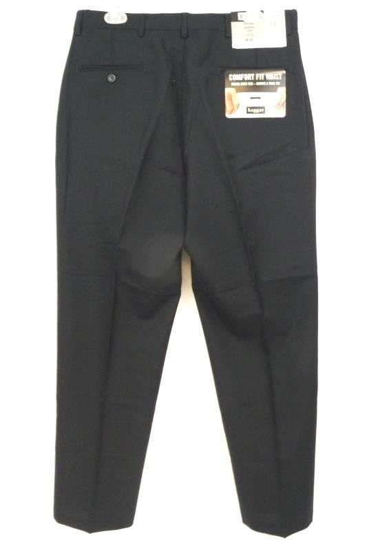 NWT Haggar Men's Navy Plain Front Classic American Fit Dress Pants Sz 34W 30L