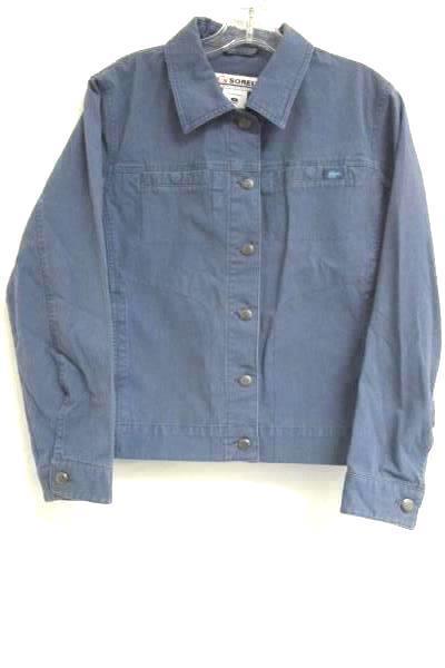 Button-Down Jean Jacket Sorel Periwinkle Cotton Blend Women's Size Medium