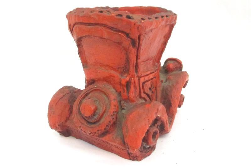 Vintage Russ Berrie & Co Car Planter Ceramic RED 1973