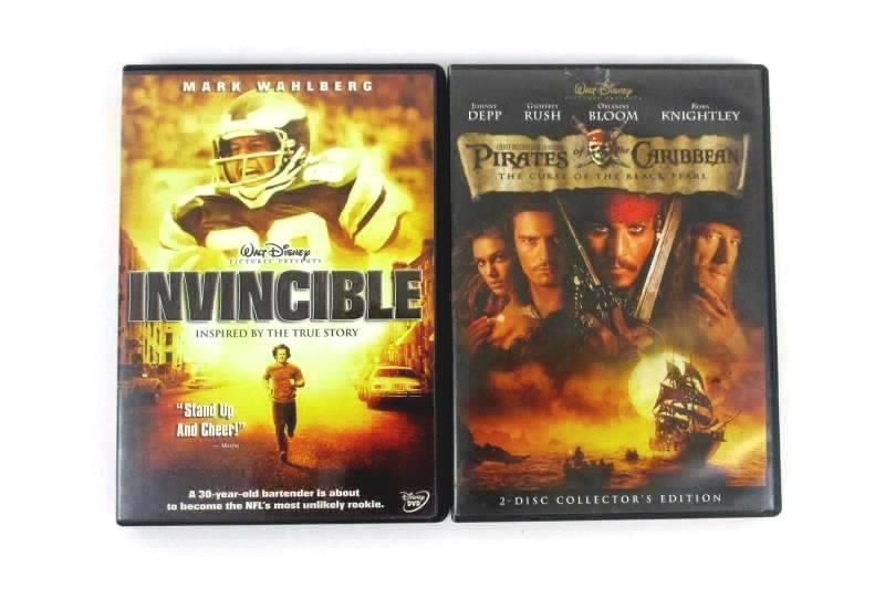 Lot of 2 DVD's - Pirates Of The Caribbean & Invincible DVD