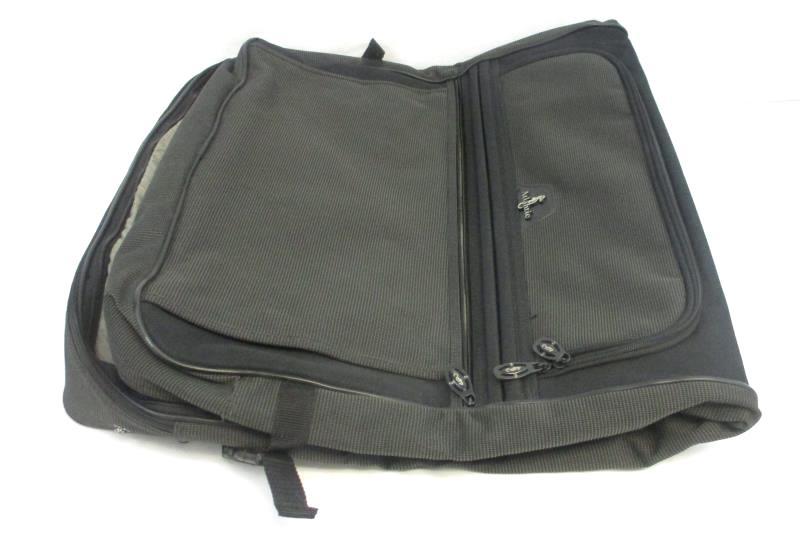 Vintage Atlantic Black Folding Garment Suit Dress Expandable Travel Bag