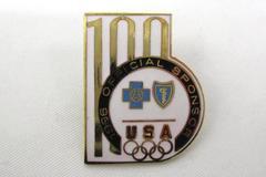 1996 Olympics USA Blue Cross Blue Shield Official Sponsor Enamel Metal Pin