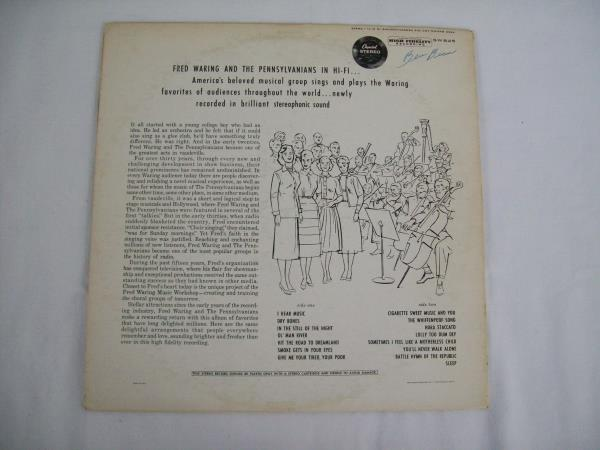 Fred Waring And The Pennsylvanians In Hi-Fi Vinyl Record