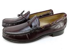 BOSTONIAN Oxblood Leather Tassel Loafers Slip On Shoes Men's Sz 9
