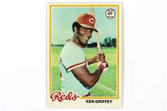 1978 Topps #80 Ken Griffey Reds OF Baseball Card With Protective Sleeve