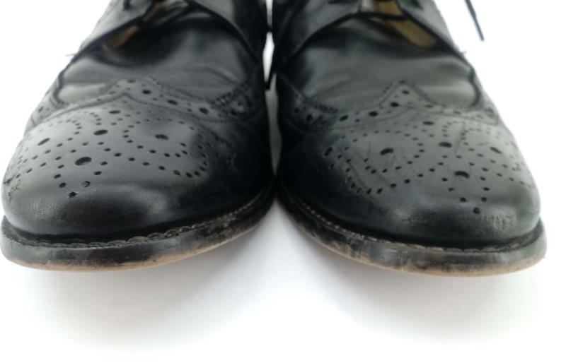 FLORSHEIM for Macy's Marino Wingtip Oxford Shoes Brogue Black Leather Men's 8.5