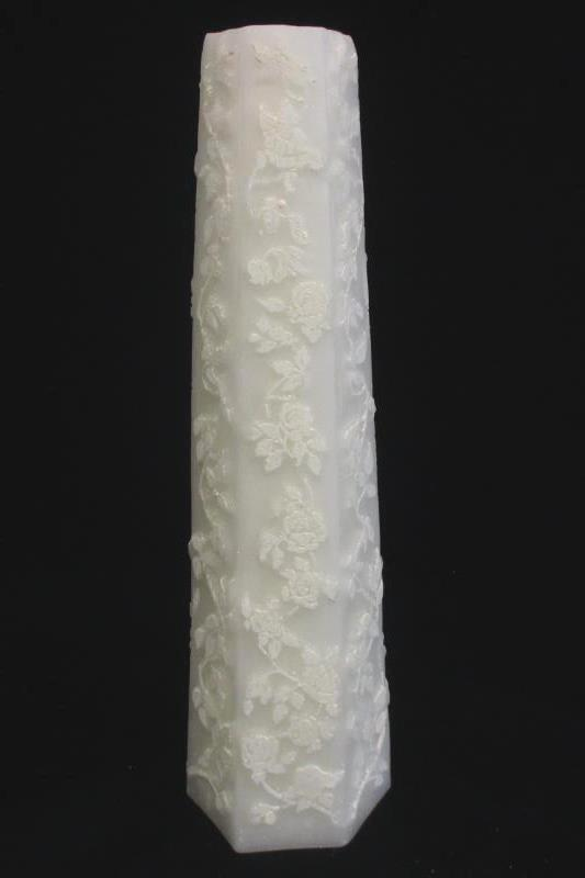 "Oliver & Thompson Rose Briar Wedding Candle 12"" White Octagonal Pillar"