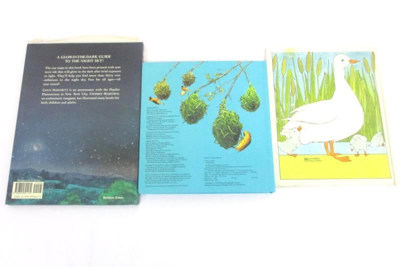 Lot of 3 Vintage Kids' Books: Night Sky + Animal Homes + Across The Stream