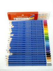 Color Pencil Lot Faber-Castell GRIP 2001 x10 + STAEDTLER Ergo Soft Aquarell x 24