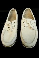 Margaritaville South Shore Men's Leather Boat Shoes Size 11 Tan Palm Tree